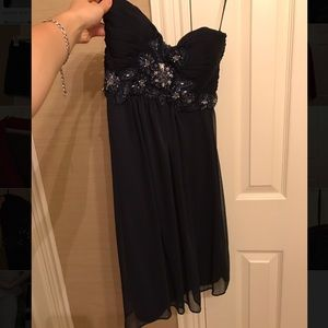 Dresses & Skirts - Navy Blue Sequined Homecoming Dress